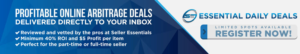 Essential Daily Deals - Profitable Online Arbitrage Deals delivered directly to your inbox. Subscribe today.