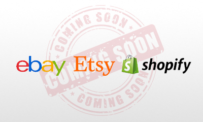 Ebay, Etsy, Shopify sections coming soon